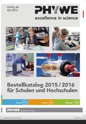 PHYWE Bestellkatalog 2015 - 2016 Lehrsysteme Physik Chemie ohne Preise
